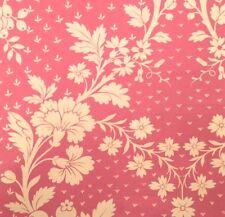 OSBORNE & LITTLE Pavillon Pink White Floral Cotton Remnant New