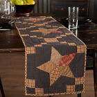 NEW Primitive STAR PATCHWORK Table Runner ARLINGTON Quilted Plaid Cabin 48