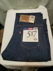 Vintage ORANGE TAB Levi's 517 Boot Cut Mens Blue Jeans  Made USA NWT