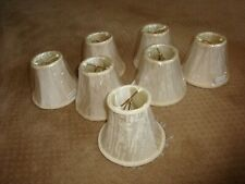 (set of 7) Small Lace Lamp Shades with teardrops, Chandelier Light Covers NEW