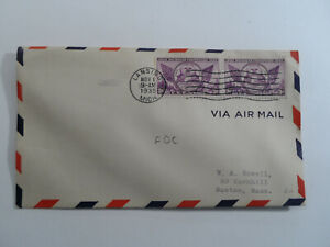 Discount Stamps : USA 1935 LANSING MICH. CANCEL COVER TO BOSTON MASS.