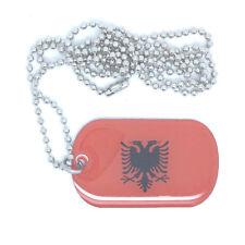 Albanien Albania Dog Tag Erkennungsmarke Anhänger Kette flag 3x5cm