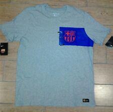 Nike FC Barcelona Crest Tee Gray 832658-063 Men's Size XL