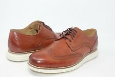 Mens Cole Hahn Original Grand Shortwing Cognac Brown Leather Oxford Size 8