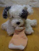 """Animal Alley PUPPY DOG W/ SOCK 8"""" Plush Stuffed Animal"""