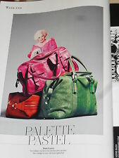 "PUBLICITE ADVERTISING  2012  FREE LANCE maroquinerie ""PALETTE PASTEL"" sac cabine"