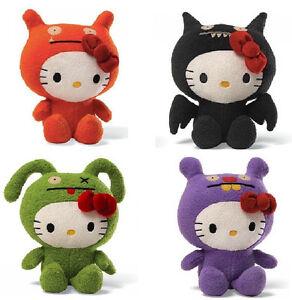 2013 SET of 4 GUND Ugly Dolls Uglydoll X Hello Kitty ICE BAT, WAGE, TRUNKO & OX