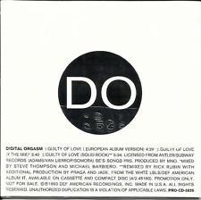 Lords Of Acid DIGITAL ORGASM Guilty of Love 2 MIXS &EUROPEAN TRK PROMO CD single