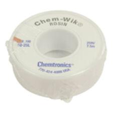 TRESSE A DESSOUDER 2.8 mm 7.5 M CHEMTRONICS ULTRA FINE BLEU CHEM WIK MB