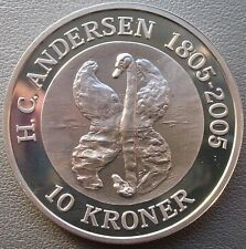 Denmark 2005 Ugly Duckling 10 Kroner 1oz Silver Coin,Proof