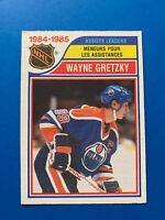 Wayne Gretzky Assists Leader 1985-86 #258 O-Pee-Chee Hockey Card Edmonton Oilers