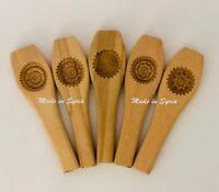Hand Carved Mould Dates Maamoul Mould Medium Size قالب معمول تمر عجوة