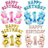 First 1st Birthday Number 1 Boy Girl Filled Balloons Baby Party Decoration New