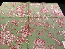 Vintage MANUEL CANOVAS ~ Paris Fabric Remnant - MANDARIN METIS -  Oriental TOILE