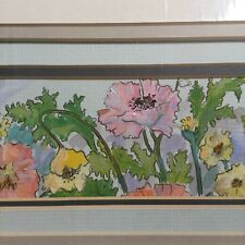 Carol King Pope Original Art Painting Signed Titled Poppies Growing Wild