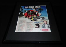 Big Time Rush 2012 Summer Tour 11x14 Framed ORIGINAL Advertisement Cody Simpson