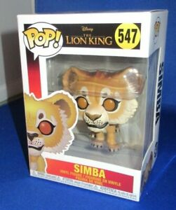 FUNKO POP THE LION KING SIMBA VINYL FIGURE #547, NEW