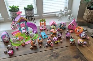 HUGE LOT of 19 Chubby Puppies, 27 Babies, Playground, Playsets & Accessories