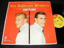 Phil Spector Label RIGHTEOUS BROTHERS LP Back To Back Clean MONO Original 1965