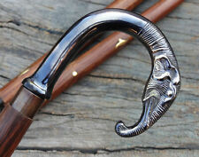 Designer Elephant Brass Handle Antique Style Vintage Cane Wooden Walking Stick