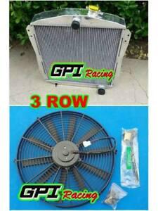 Aluminum Radiator +FAN 1946-1948 CHEVROLET STREET ROD (M/T) L6 ENGINE