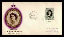 DR WHO 1953 MONTSERRAT FDC CORONATION QUEEN ELIZABETH II  C228619