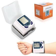LCD Digital Wrist Blood Pressure Monitor Heart Rate Beat Pulse Meter Measure New