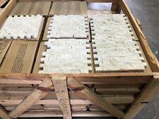 Marble Tiles, Crema Marfil Split Face Mosaic, Rock Face 25x50x20mm 15m2 JOBLOT