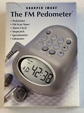 Walk Run Pedometer Sharper Image FM Radio Pedometer SR353 New Open Box