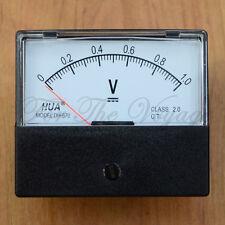 0- 1V DC Voltmeter Analogue Panel Volt Meter Analog NEW