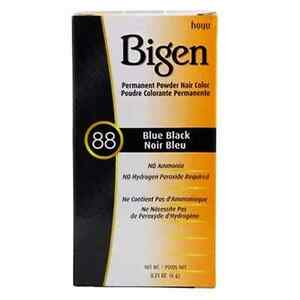 Hoyu Bigen Permanent Powder Hair Color Gray Coverage 0.21oz #88 Blue Black
