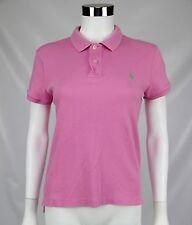 Ralph Lauren Sport Womens Pink Slim Fit Cotton Short Sleeve Polo Shirt Sz Large