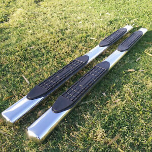 """For 2019-2021 Dodge Ram 1500 Crew Cab 4"""" Running Board Side Step Nerf Bar Oval"""