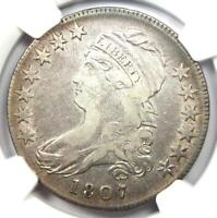 1807 Capped Bust Half Dollar 50C Coin - Certified NGC VF Details!