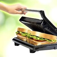 Bistecchiera elettrica piastra panini in pietra grill antiaderente 750 toastiera