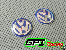 2pcs VW Key Fob Logo Badge Emblem Volkswagen GOLF BORA PASSAT BEETLE Jetta