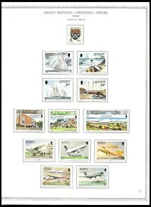 JERSEY 1986-88 ISSUES ON 2 PAGES (UHM) *CLEAN & FRESH*