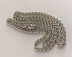"David Yurman Wheat Chain Necklace 4mm 18"" Long"