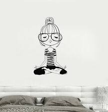 Vinyl Decal Yoga Meditation Teen Girl Room Zen Wall Stickers Mural (ig3276)