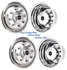 "19.5"" GMC 4500 CHROME PLATED WHEEL SIMULATOR RIM LINER HUBCAP COVERS ©"