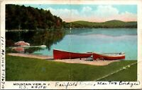 Vtg 1920's Two Canoes on the Lake at Mountain VIew New Jersey NJ Postcard