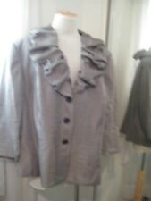ADRIANNA PAPELL  EVENING TAUPE GRAY RAYON POLY $158 JACKET SZ 22W, NEW, 25% OFF