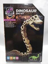 Dinosaur Dig Kit Digging Tool Brush Hammer Sand Block Diplodocus Excavation New