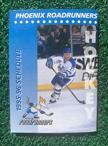 1995-96 Phoenix Roadrunners Hockey Pocket Schedule Circle K Mint Condition