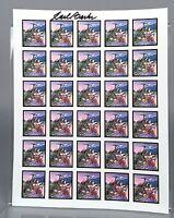 Carl Barks Scrooge McDuck Psychedelic Blotter Art - Eureka! - Walt Disney SIGNED