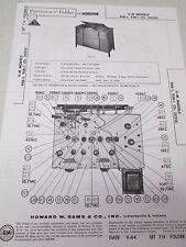 Vintage Sams Photofact Folder Radio Parts Manual V-M 948-1 958-1 (Ch. 20216)