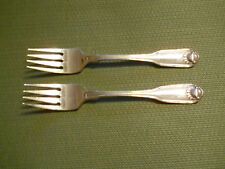 """Oneida Silver Shell set of 2 salad forks 6 5/8"""" silverplate"""