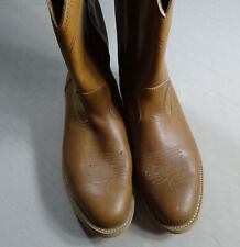 Sheplers Mens Western Cowboy Boots Oil Resistant , Size 10, Brown in Color