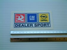 Vauxhall Opel GM Dealer Sport laminated Classic Sticker Decal Toolbox Vechicle