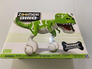 Dino Zoomer Boomer Dinosaur Interactive Toy Robot Remote Green Damaged Box